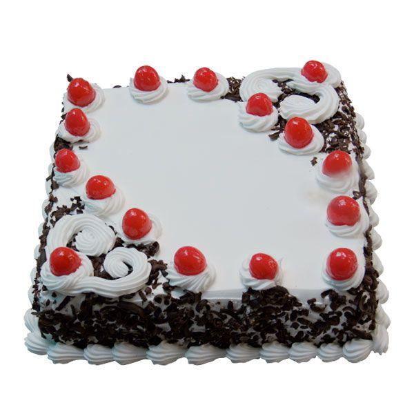 Square Blackforest cream Cake