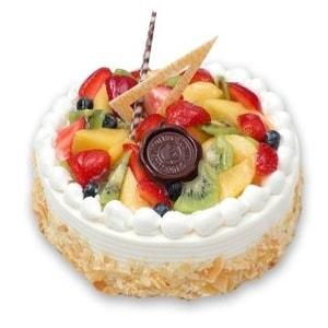 Round Mixed Fruit cake