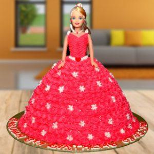 Beautiful Barbie Girl cake
