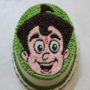 Bheem Face Cake