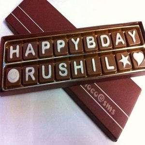 Double Line SMS Chocolates (18 Letters)