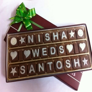 Triple Line SMS Chocolate (27 Letters)