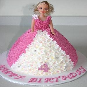 Cute Barbie Doll Cake