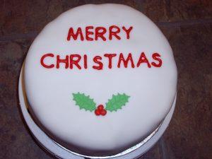 Round Xmas Cake