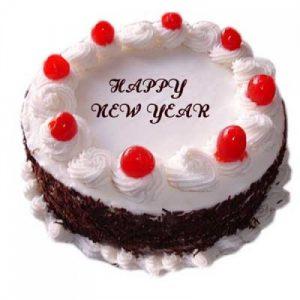 New Year White Classic Cake