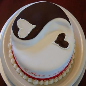 Affectionate Heart Cake