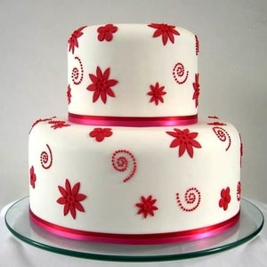 Two Tier colourful Cake