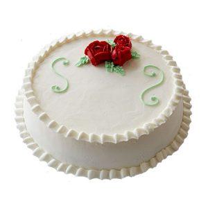 Rose cream Christmas cake