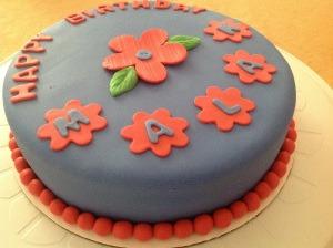 Orange flowered cake