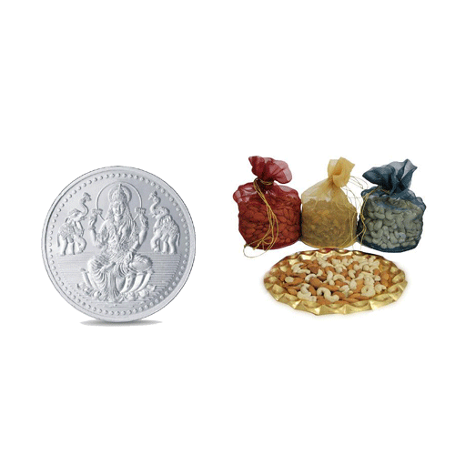 Dry Fruits with Silver Coin Combo