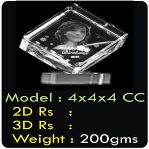Cube 2D & 3D Crystal
