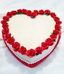 Rosy Heart Cake