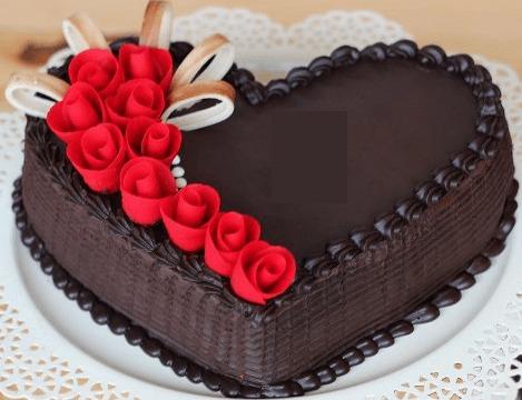 Loving Heart Chocolate Cake