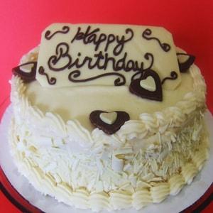 White Chocolate Truffle Cake