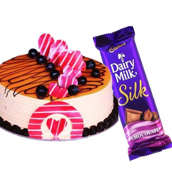 litchi cake with silk