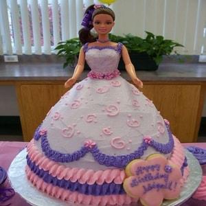 Fabulous Barbie cake white with purple