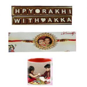 Photo Rakhi with Chocolate