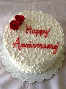 Creamy Anniversary cake
