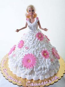Gerbera's on white barbie