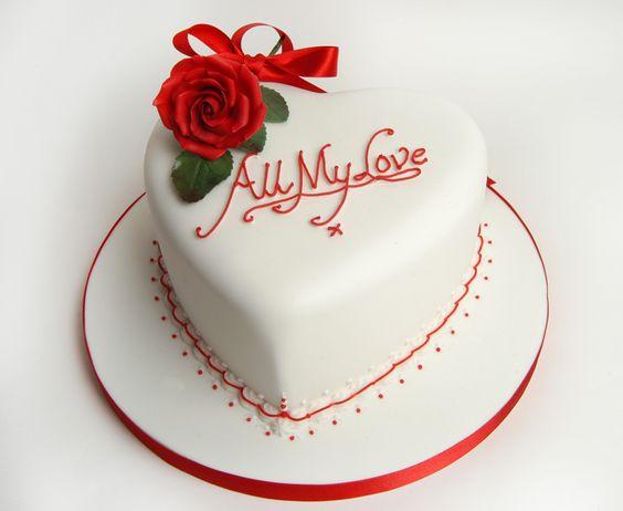 Rose Valentine Cake