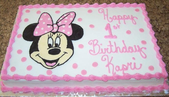 Micky 1st Birthday Cake for Boy