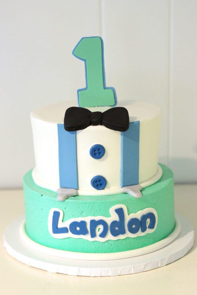 Adorable boy cake