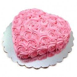 Heart shape roses Cake