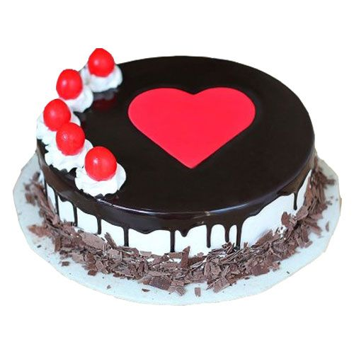Lovely Chocolate Cake with Heart