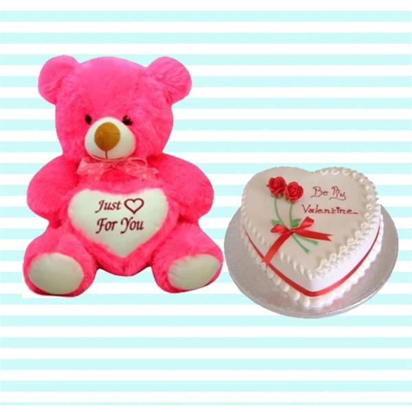 Loving cute teddy hamper