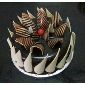 Creative Chocolate strips cake