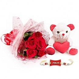 Friend teddy with Flowers