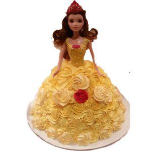 Exotic yellow barbie cake