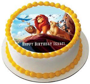 Lion King Photo Cake