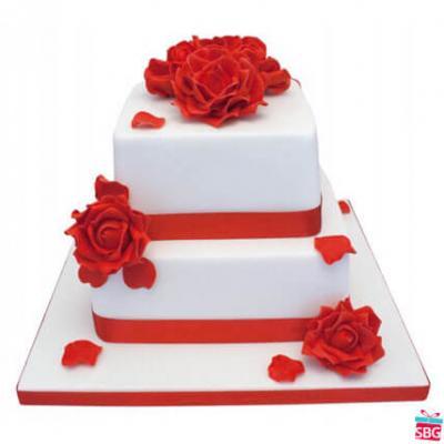 Stylish step cake