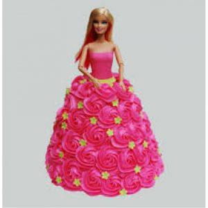 Green Star Cute Barbie Cake