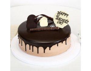 Teacher's day chocolate cake