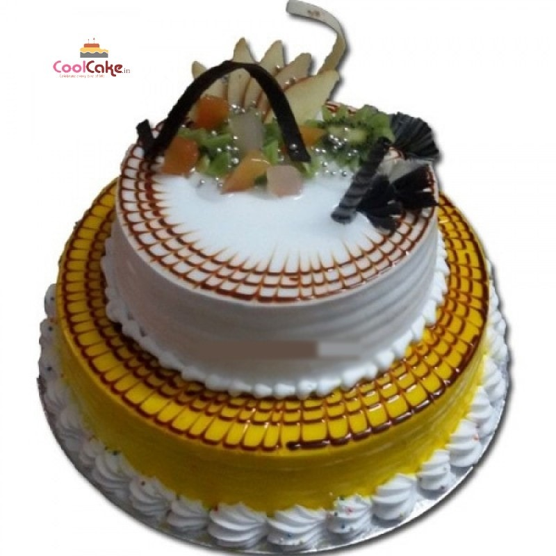 Fruit step cake