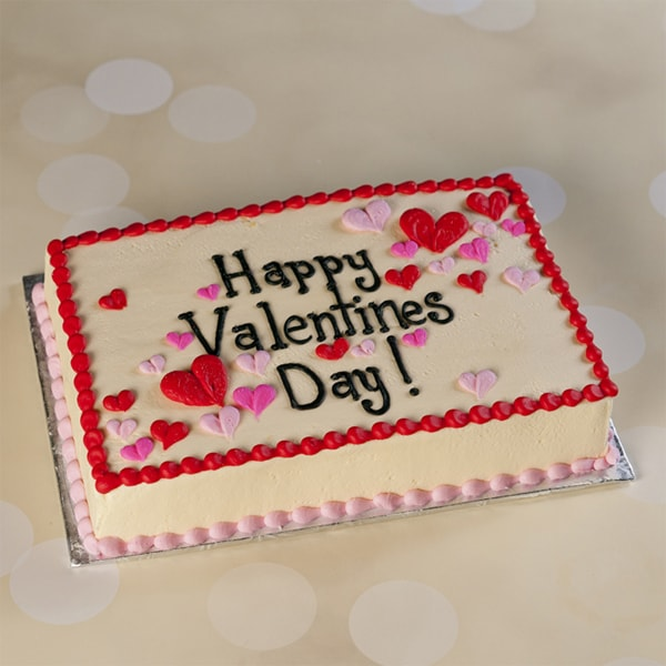 Happy Valentine Square cake