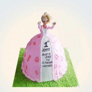 Greenery Barbie cake