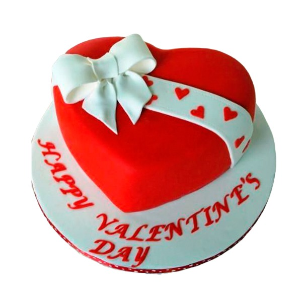 Heart valentine cake