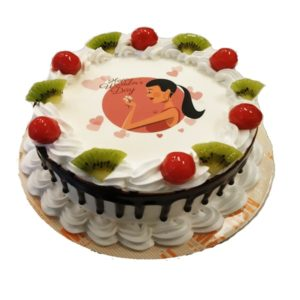 Charming Fruit photo cake